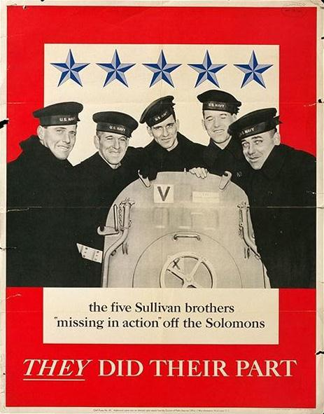 Navy Recruiting Poster - Sullivan Brothers