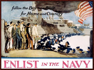 Navy Recruiting Poster - Follow the boys ...