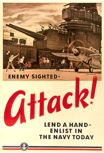Navy Recruiting Poster - Attack