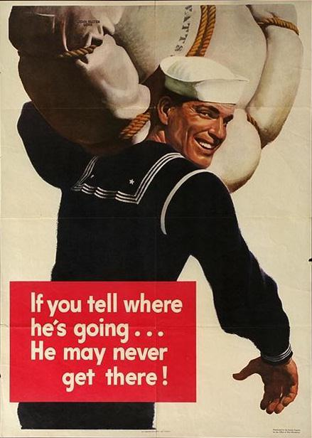 Navy Recruiting Poster - If you tell ...