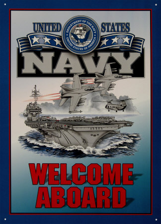 Navy Recruiting Poster - Welcome Aboard