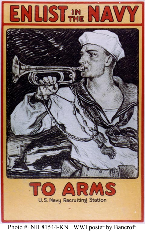 Navy Recruiting Poster - To Arms