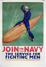 Navy Recruiting Poster - The Service for Fighting Men