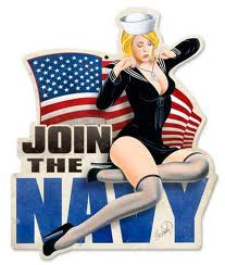 Navy Recruiting Poster - Join the Navy Pin-up