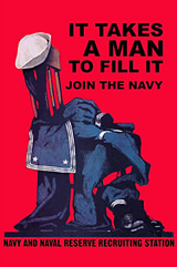 Navy Recruiting Poster - It Takes a Man