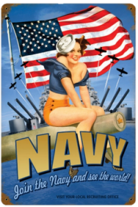 Navy Recruiting Poster - Pin up 4