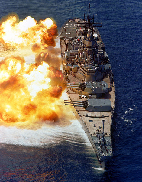 USS IOWA BB-61 full broadside