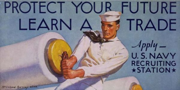 Navy Recruiting Poster - Learn a Trade.