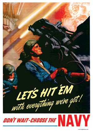 Navy Recruiting Poster - Let's Hit 'Em