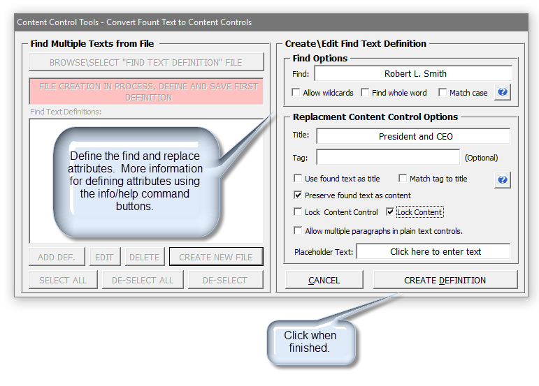 Content Control Tools