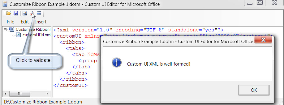 customize ribbon 7