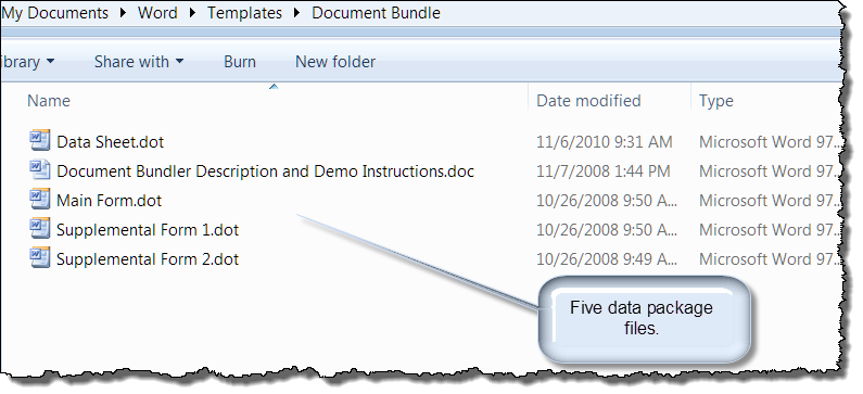 DocBundler (Create multiple documents from commond data sheet)