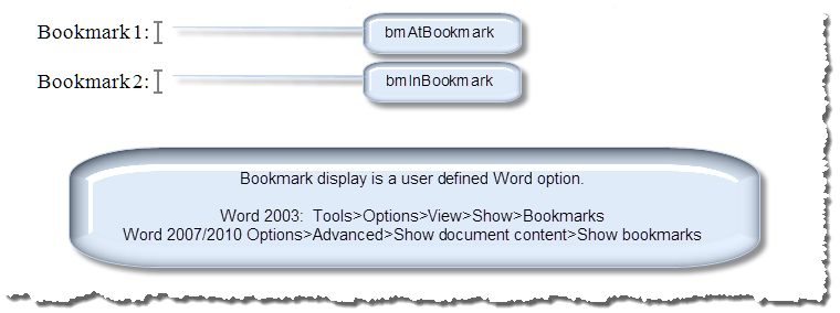 insert text in bookmark 1