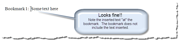 insert text in bookmark 3