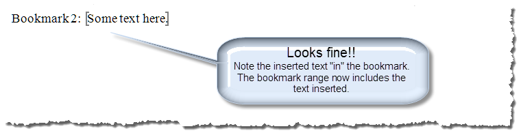 insert text in bookmark 5