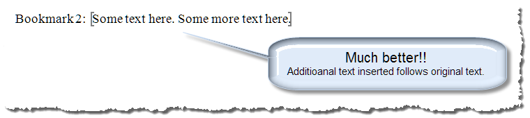 insert text in bookmark 6