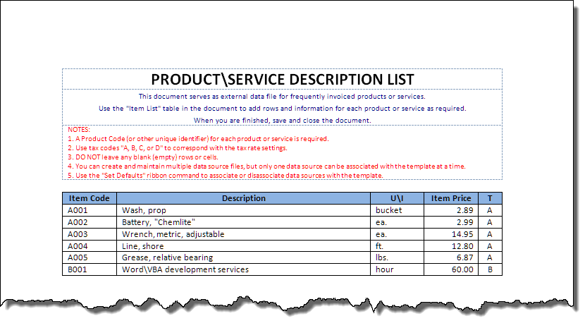 Invoice Automated for Word – Sample Invoice Word Doc