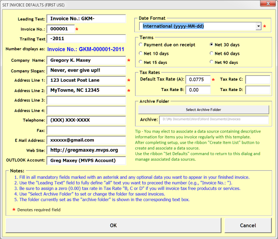 Invoice Automated For Word - Open invoice definition