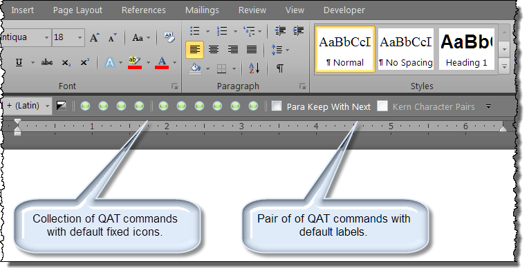 Modify Quick Access Toolbar Qat Button Image Or Text