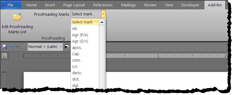 Delete proofreading symbol