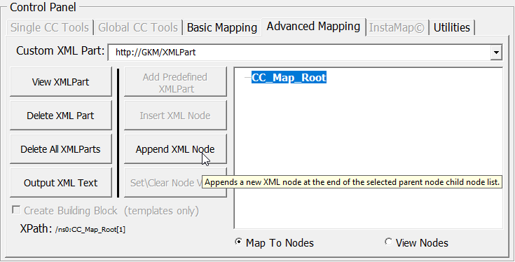 Add, Map and Emplory as Repeating Section Content Control (RSCC) in