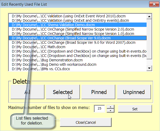 recently used files editor 3