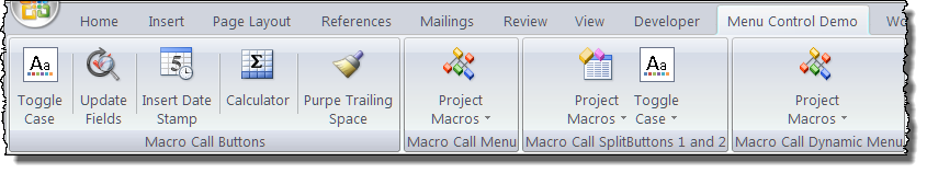 how to add macro into ribbon word
